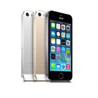"""Оригинальный отремонтированный iPhone 5S разблокированные мобильные телефоны IOS 8 4.0 """"IPS HD Dual Core GPS 8MP 16 ГБ / 32 ГБ мобильный телефон"""