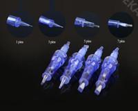 100pcs Derma 펜 바늘 카트리지 1/3 / 9 / 12 / 36 핀 전기 Dermapen M5 M7 N2 교체 일회용 바늘 팁 무료 DHL 배송