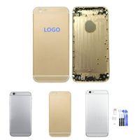 iphone 6 6g Artı 5.5 4.7 İnç Komplet Tam Konut Geri batarya Kapı Kılıf Kapak Değiştirilmesi + Araçlar 1pcs için / Lot