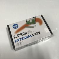 USB 3.0 2.5 İnç HDD Vaka Mikro B Harici Sabit Disk Disk Ek ile Perakende Paket 100pcs / lot dhl ücretsiz