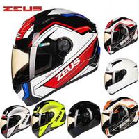 2016 새로운 DOT 인증 ZEUS 전체 얼굴 오토바이 헬멧 ABS Motorcross 오토바이 헬멧 ZS-811 사계절 크기 M L XL XXL