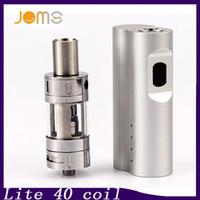 Auténtico JOMO A027 Lite 40S Nuevo Jomo 40 vatios e cig box mod Lite 40w Vapor Mod kit 3ml Tanque Batería incorporada 0268009-1