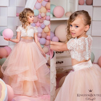 Two Pieces Ruffles Flower Girls' Dresses For Weddings C...