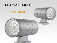 Montaje en pared Lámpara LED 36W UP DOWN Cilindro lateral Aluminio Columbia Exterior Waterproof IP65 Foco Lampara Red Green Blanco cálido Blanco frío