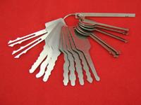 16 pcs de aço inoxidável jiggler key carro de bloqueio automático teclas de coleta de opener ferramenta de reparo
