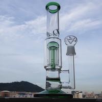 """DHL-freies 12 """"hohes scienfitic Glaswasserrohr kennzeichnet einzelne Schicht Bienenwaben Perkolatoren sowie einen 9-arm verstärkten Baumpercolator"""