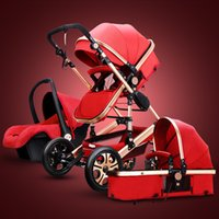Baby Stroller With Car Seat for Newborns, Multi- function Pus...
