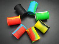 100 pçs / lote barril de óleo FDA recipiente de silicone de forma de tambor aprovado para BHO recipiente de silicone para cera BHO Butano vaporizador de silicone frascos
