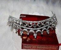 Yeni Shining Rhinestone Taç En Popüler Alaşım Shining Taç Düğün Balo Parti Kız 'Gelin Tiaras Moda Taçlar