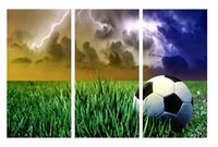 YIJIAHE Moder Print Canvas Painting Football 3 Piece Canvas ...