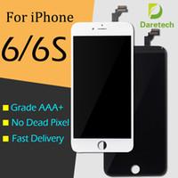 Per iPhone 6G iPhone 6S bianco black LCD pannelli tocco touch screen digitalizzatore completa DHL libera il trasporto