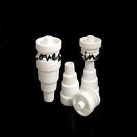 Hurtownie 2 sztuk ceramiczny domieszki paznokci, ceramiczne paznokcie parowca 6 w 1 10mm 14mm 18mm męski żeński Domy Domy Gwoździe