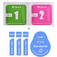Limpieza de película seca Wet and Dry 2in1 Wipes Guía de amortiguación de polvo Sticker for Cellphone LCD Pantalla de vidrio templado Protector Alcohol Cleaning