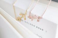 10 PCS 18 k pingente de ouro colar moda feminina simples âncora colar banhado a colar de presente por atacado frete grátis