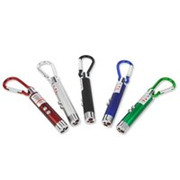 Nouvelle arrivée Multi-fonctionnelle Mini 3 in1 LED Laser Pointer Key Chain Lampes de poche Mini Torch Lampe de poche Liquid Detector Light