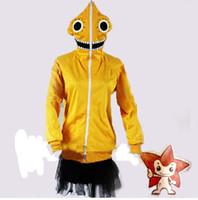 Kostenloser Versand! Neue Vocaloid V + Matroschka Puppe Gumi Cosplay Sport Tops Mantel Sportswear Gelb