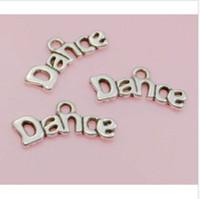 Envío gratis 300 unids plata tibetana Dance Charms colgante para joyería que hace la pulsera 9x20mm