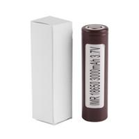 Mais novo HG2 25R 30q 18650 bateria INR Bateria 3.7 V 20A Recarregável De Lítio Para E Cig Caixa Mod com 3000 mah 3400 mah 2500 mah