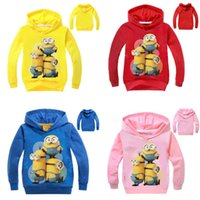 2017 Spring Autumn Cartoon Minions Hoodie Despicable Me Hood...