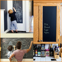 45x200cm Large Chalkboard Decal Wall Sticker (Black), Black ...