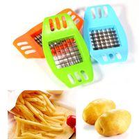 Kartoffelschneidemaschine PVC + Edelstahl-französische Fritte Fries-Schneider Peeler-Kartoffelchip-Gemüseschneider, der Werkzeug-Küche kocht Lieferant