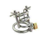 Ultimo disegno Bondage in acciaio inossidabile Dispositivo di castità maschile Uretrale Stretching GAY BD Fetish Nuovo A148