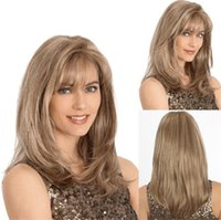Z&F Light Brown Wigs 18 inch Curly Fluffy Medium Long Wave H...