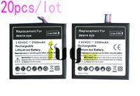 20 pçs / lote 2500 mah b0pfh100 bateria de substituição para htc desire eye m910x m910n baterias batterij batterij