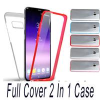 Hybrid case Ganzkörper-schutz PC + TPU Vorderseite Rückseite Touchscreen Haut Hülle für iPhone X XS Max XR 8 5 6 7 Plus Samsung S7 Edge S8 Plus