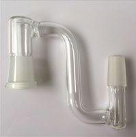 Hoodahs Adaptador de cadenas de cadenas 14mm Femenino de vidrio Drop Down Converter 18mm Hombre para ajustar Plataformas de aceite Bongs Claves de cuero