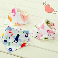 26 Designs Cartoon Bibs Burp Cloths Baby Girls Boys Waterpro...
