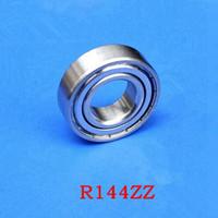100pcs R144ZZ 3.175 x6.35 x2.78 차폐 된 베어링 인치 1/8 x 1/4 x 7/64 소형 볼 베어링 R144 3.175 * 6.35 * 2.78 mm