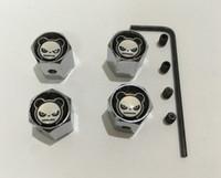 4 teile / satz die panda gesicht muster Metall diebstahl Stil Auto Rad Reifen Ventile Reifen Staubschutzkappen für alle auto