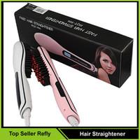 2016 Cheveux Lisseur Brosse Peigne LCD Fers À Lisser Cheveux Peigne Brosse Fers Électrique Lisseur Cheveux Massage Peigne EU AU US UK Plug