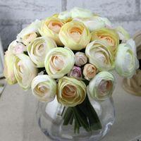 9pcs Flower Head Bouquet Artificial Flowers Lotus Wedding Home Furnishing Decoration Hot Sale