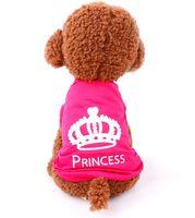 Coletes rosa atacado camisas cão de estimação Appareal roupa do filhote de cachorro do gato do cão veste a roupa do animal de estimação do cão de pano