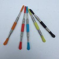 왁스 도구 dh_lucky 상점에 의해 실리콘 상단 도구 도구 왁스 도구, 금연 손톱 막대기와 도매 금속 DAB 도구 왁스 Dabber 도구