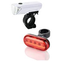 أضواء الدراجة للماء مع مجموعة 1 ضوء الرأس و 1 ضوء خلفي الذيل ضوء USB القابلة لإعادة الشحن أضواء الدراجات اكسسوارات الدراجات