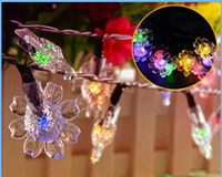 LED Solar Floral Shape String Lights Landscaping Lights Batt...
