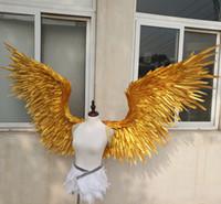 NEW! بالملابس الجميلة أجنحة الملاك الذهب ريشة للتصوير الزفاف العرض حزب زينة الزفاف EMS شحن مجاني