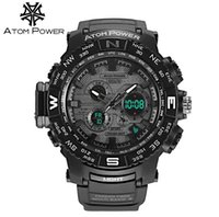 30M wasserdichte Armee Uhren Dual-Display LED Sport Militäruhren Männer Analog Quarz Digital Watch out130