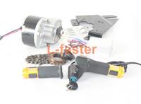 250W Elektrisk borstmotor för cykel Elektrisk accelerator med nyckelbrytare och batterispänning Enkel motorpaket för DIY E-Bike