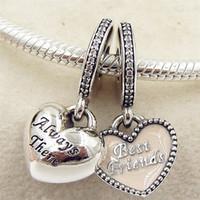 2016 herbst DIY Lose Perle S925 Sterling Silber Beste Freunde Charme mit Cz Passend Europäischen Schmuck Armbänder Halsketten Anhänger