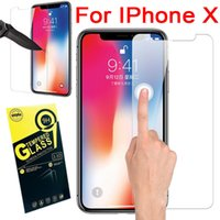 For iPhone X 8 7 Plus Galaxy S8 S7 Tempered Glass 9H Clear F...