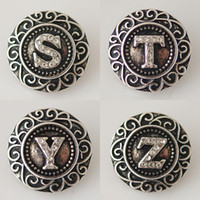20mm English Alphabet Snaps Button Jewelry S to Z Fit Ginger...