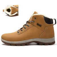 Boots New Winter Plus velvet Men Hiking Shoes Non- slip Breat...