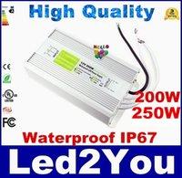 Vendita calda 200W 250W Led trasformatore adattatore trasformatore AC 110V-240V a DC 12V per LED Strip Light CE ROHS UL SAA
