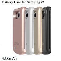 Power Case S7 S7 edge Externes Backup-Ladegerät Fall Tragbare Powerbank Pack Cases Für s6 s6 edge BAC024
