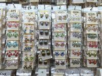 Top Menge Mode Exquisite Sortierte Kristall Schmuck Ohrstecker Ohrringe für Frauen Beste Geschenk Großhandel Paare