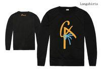 2018 новый мужская одежда BLVD футболки мода уличная одежда с длинным рукавом шею Марка мужчины повседневная футболка лучшее качество бесплатная доставка